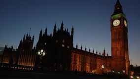 Palace of Westminster, include big ben, time lapse stock video