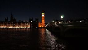 Palace of Westminster, include big ben, zoom out stock video footage