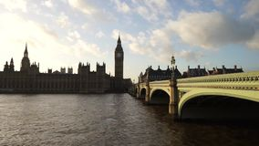 Palace of Westminster, include big ben, zoom out stock footage