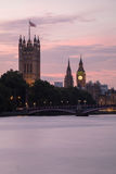 Palace of Westminster and Lambeth Bridge at Dusk, London, United Stock Images