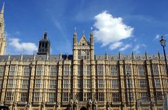 The Palace of Westminster in London, England Royalty Free Stock Photography