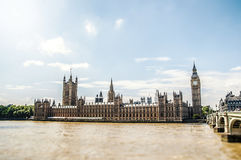 The palace of westminster Stock Photography
