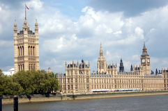 The Palace of Westminster,  London, Great Britain. The Palace of Westminster, known also as the Houses of Parliament, located on the Thames River in London Royalty Free Stock Photos