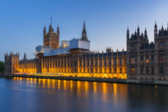 Palace of Westminster in London at night Stock Photography