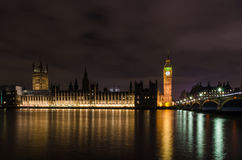 Palace of Westminster. The Palace of Westminster is the meeting place of the House of Commons and the House of Lords, the two houses of the Parliament of the Royalty Free Stock Photo