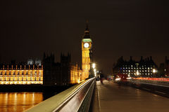 Palace of Westminster at Night Stock Image