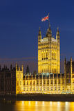 Palace of Westminster At Night Royalty Free Stock Photography