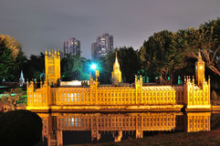 Palace of Westminster night Royalty Free Stock Photography