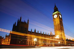 Palace of Westminster at Night Stock Photos