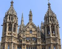 Palace of Westminster, parliament, facade, London, United Kingdom Royalty Free Stock Photography