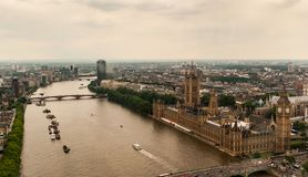 The Palace Westminster or The Parliament with the River Thames in London stock photos