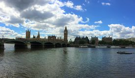 The Palace of Westminster - the Parliament of  the United Kingdom. stock photography