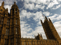 Palace of Westminster showing Victoria Tower Royalty Free Stock Photo