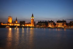Palace of Westminster at twilight Stock Photography