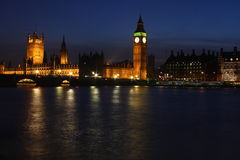 Palace of Westminster at twilight Royalty Free Stock Photo