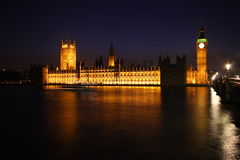 Palace of Westminster at twilight Stock Image