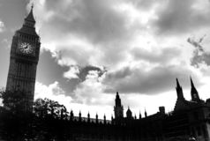 Palace of Westmister and Big Ben stock image