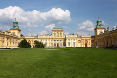 Palace Wilanow in Warsaw Stock Photos