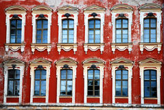 Palace windows royalty free stock photography