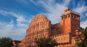 Palace of Winds constructed of red and pink sandstone Stock Images