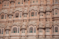 Palace of the winds or Hawa Mahal. Famous palace of winds in Jaipur Stock Photography