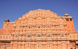Palace of the Winds (Hawa Mahal) in Jaipur, India. Facade of Hawa Mahal, palace of winds in pink city (Jaipur) in India Royalty Free Stock Photos