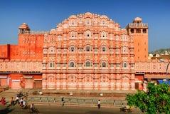 Palace of Winds, Hawa Mahal, Jaipur, India. The decorated facade of the Maharaja's Palace of Winds, Hawa Mahal, Jaipur, India Stock Photos