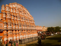 Palace of the Winds or Hawa Mahal, Jaipur. The renowned 'Palace of The Winds', or Hawa Mahal, is one of the prominent tourist attractions in Jaipur city. Located Stock Photo