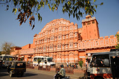 Palace of the Winds, Jaipur India. The stunning architecture of the Palace of the Winds in the bustling pink city of Jaipur, India Royalty Free Stock Photography