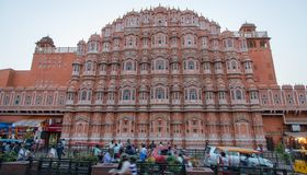 Palace of winds in Jaipur. View of Hawa Mahal also called Palace of winds from the streets of Jaipur royalty free stock image