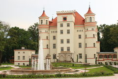 Palace Wojanow near Jelenia Gora (Poland).  Royalty Free Stock Photography