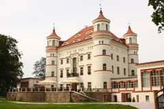 Palace Wojanow near Jelenia Gora (Poland) Stock Photography