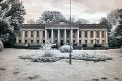 Palace in Wolsztyn. Palace in Greater Poland Voivodeship, in west-central Poland. The infrared image Stock Photo