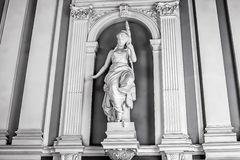Palace women`s vintage statue. Royalty Free Stock Photos
