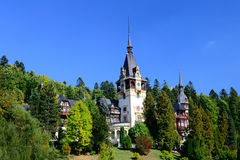 Palace In The Woods. Ancient Peles Palace In Sinaia, Romania Royalty Free Stock Image