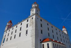 Palace (XVIII c.) of Bratislava Castle Stock Photo