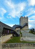 Palace Yard of Celje Castle with a View of Frederick Tower Royalty Free Stock Images