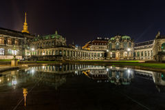 Palace Zwinger by night- Dresden, Germany Royalty Free Stock Photography