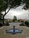 Palaces of the Alhambra in Granada, from the Mosque stock photos
