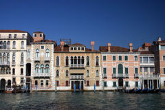 Palaces at the Grand Canal in Venice. Royalty Free Stock Images