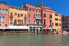 Palaces on Grand Canal Venice Italy Royalty Free Stock Images