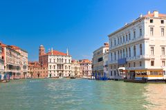 Palaces on Grand Canal Venice Italy Royalty Free Stock Photography