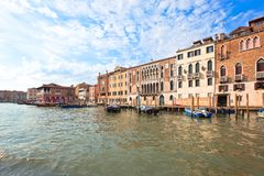 Palaces on Grand Canal Venice Italy Stock Photo