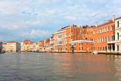 Palaces on Grand Canal Venice Italy Royalty Free Stock Photo