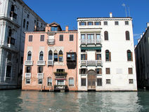 Grand Canal in Venice, Italy. Palaces on the Grand Canal in Venice, Italy Stock Photos
