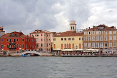 Palaces at the Grand Canal of Venice - Italy. Royalty Free Stock Photo