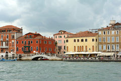 Palaces at the Grand Canal of Venice - Italy. Royalty Free Stock Photos