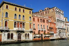 Palaces on the Grand Canal in Venice in Italy Stock Photography