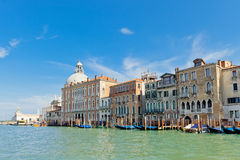 Palaces on Grand Canal. Venice, Italy Royalty Free Stock Images