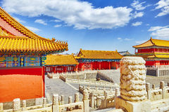 Palaces, pagodas inside the territory of the Forbidden City Muse Stock Photography